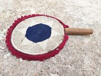 1900's ANTIQUE HAND WOVEN TRIBAL HAND FAN, DELICATE WORK