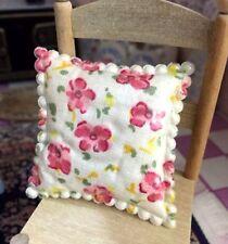 1/12 Dollhouse Miniature Flower Cushion For Sofa Arm Chair Living Dining Room
