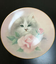 "Hamilton Collection ""Blushing Beauties "" Petals & Purrs Plate #1683B"