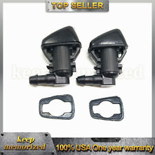 2*Windshield Wiper Washer Spray Nozzle 68260443AA For 11-18 Jeep Grand Cherokee