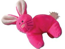 Hide 'n Squeak Dog Toy, Pink Rabbit Plush Toy with Pouch for Removable Squeak