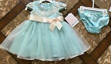 BONNIE BABY Girls EMBROIDERED Ballerina Dress w/bloomers Size 12m ~ NWT ~ $70