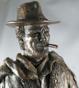 Clint Eastwood l'Homme au Poncho - Statue Résine Bronze 32cm - Keith Lee 1992