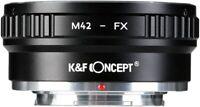 Copper Lens Adapter II for M42 Lens to Fujifilm Fuji X-Series X FX Mount Cameras