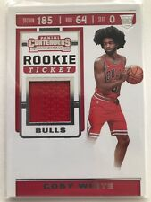 2019-2020 Panini Contenders Basketball Coby White Rookie Ticket Jersey Card
