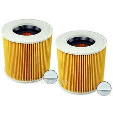 KARCHER Vacuum Cleaner Hoover Filter 2 x Wet & Dry Cylinder Cartridge Filters