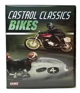 CASTROL CLASSICS BIKES DVD by Duke - Motorcycle Sidecar Motorbike Racing -NEW