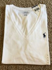 NEW Polo Ralph Lauren Women  Pony Short Sleeve V-Neck T-Shirt Tee