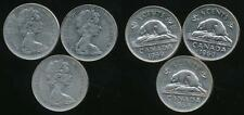Canada, Group of 3 Elizabeth II 5 Cent Coins (1965, 1968, 1969) - Fine
