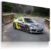 PORSCHE GRAPHITE Super Sport Cars Large Wall Canvas Picture ART AU635 MATAGA