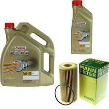 Inspection Kit Filter Castrol 6L Oil 5W30 For VW Golf (VII) 5G1 BE1 2.0 Gti