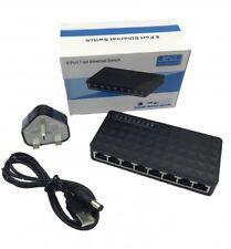 HUB 8 PORTE SWITCH LAN ETHERNET 100 Mbps Non Gestito Gigabit network