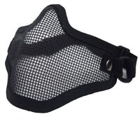 CS Airsoft Steel Wire Mesh Half Face Mask Tactical Hunting Protection Skirmish
