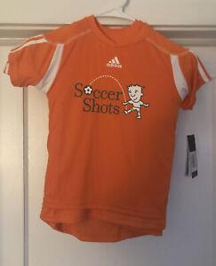 Adidas Kids Soccer Shots Short Sleeve Shirts Lot Of 5 Size Small NWT