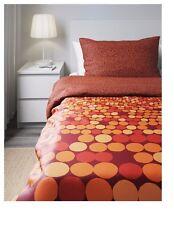 Ikea Smorboll Single Duvet/Quilt Cover & 2 Pillowcases - Orange/Red 202.898.87