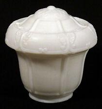 1910s 20s Vintage SATIN MILK GLASS Globe Lamp Shade Fixture Art Deco Arts Crafts