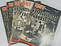 Vintage Lot Of 6 Qst Amateur Radio Magazines Ham Radio 6 issues 1947
