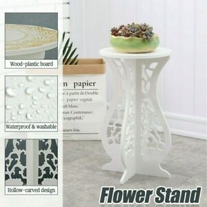 Coffee Tea Table Lamp Stand Flower Plant Rack Round Side End Table Home Garden