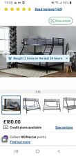 Black metal triple bunk beds.      REDUCED TO £100....