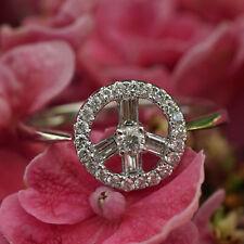 Brillant Ring 750er Weißgold PEACE VOGUE STYLISH 1 cm Durchmesser SW 1.277.-Euro