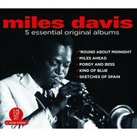 MILES DAVIS - 5 ESSENTIAL ORIGINAL ALBUMS 3 CD NEW!