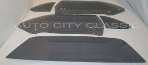 Cuda Glass 2dr Hardtop 1970 - 1974 Plymouth Door Quarter Back Grey Set