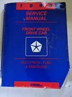1993 Chrysler Front Wheel Drive Car Electrical Fuel And Emissions Service Manual