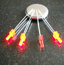 2mm FLASHING RED TOWER DIFFUSED LEDs  x 10