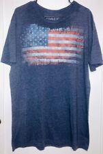 New listing Galt men's t-shirt size Xl, American Flag, Navy Heather Blue short sleeve tee
