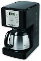 Stainless Steel 8-Cup Thermal Coffee Maker Programmable Fresh Hot Coffee Brewer
