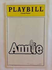 "Playbill for Colonial Theater, Boston, MA:  ""Annie"" April 1980, Mary K Lombardi"