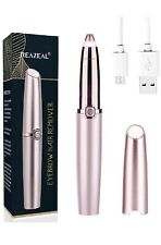 New  Rechargeable Eyebrow Flawless Trimmer Hair Remover - Rose Gold-