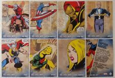 Marvel Avengers Kree-Skrull War RETRO CHARACTER Trading Card Set of 27