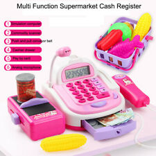 Pretend Electronic Cash Register Toy Realistic Actions & Sounds With Mic For Kid