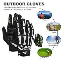 Outdoors Cycling Bike Motorcycle Bone Skeleton Goth Full Finger Sport Gloves USA
