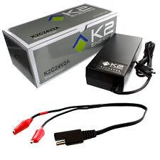 K2 Energy K2C24V2A 24V 2Ah LiFePO4 Smart Charger with Alligator Clips