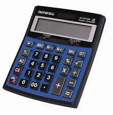 Faithfull grandes Escritorio Batería Solar de 12 Dígitos Calculadora Oficina Hogar, faidetcal