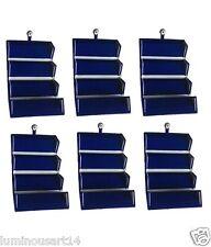 Pack of 6 Earring Folder jewelry box Jewellery Storage Box Pouch Travel Kit Case