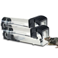 2X Plastic Mousetrap Mice Mouse Rodent Rat Transparent Trap Cage Outdoor Indoor