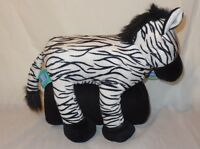 "New Zebra Plush 14"" Silver One Cuddly Buddies & Fleece Throw 50"" x 60"""