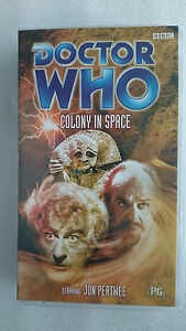 Doctor Who Colony in Space (VHS 2001) -  Jon Pertwee - New and Sealed