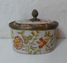Wong Lee WL 1895 porcelaine de Chine faience bronze box