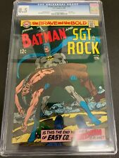 BRAVE AND THE BOLD #84 * CGC 8.5 * (DC, 1969) NEAL ADAMS COVER & ART!  SGT. ROCK