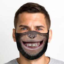 Smiley Monkey Mouth One Size Reusable Washable Breathable Face Mask From UK