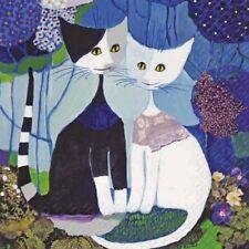 Wachtmeister Rosina Wedding blau - Katzen Hochzeit - 20 Servietten 33x33 cm