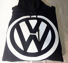 VW Hooded Sweatshirt   Black Hoodie   S - 2X   Bug   Beetle   Volkswagen