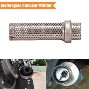 38MM Motorcycle Silencer Muffler Plug Baffle Insert Mesh Pipes Removable Metal