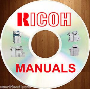 RICOH Digital DUPLICATOR SERVICE REPAIR WORKSHOP MANUALS & PARTS Manual on a DVD