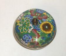 RARE SMALL OLD CHINESE CLOISONNE ENAMEL MILLEFLEUR BOWL JAR BOX