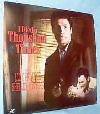 LD laserdisc I DIED A THOUSAND TIMES Jack Palance Ltbx